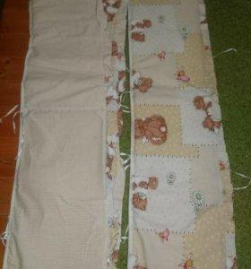 Мягкий бортик для детской кроватки