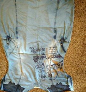 Платье джинсовое 52-54 р-р