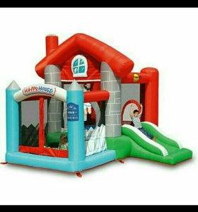 Детский надувной Батут Счастливый дом HAPPY HOP