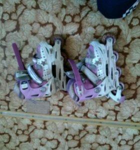 Детские роликовые коньки.