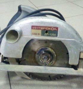 Дисковая пила Интерскол ДП-1200