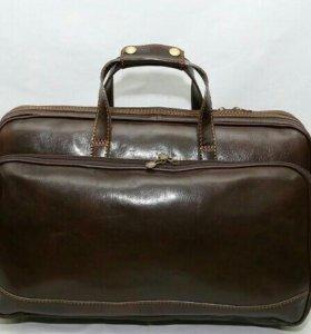 Новая кожаная дорожная сумка
