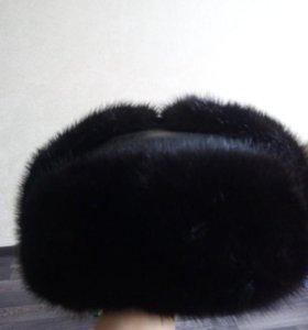 Шапка-ушанка норка