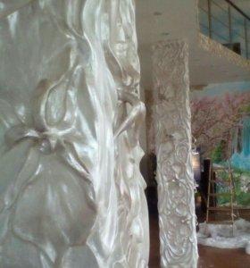 Художественная роспись стен, барельеф