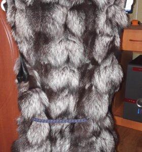 Жилетка мех- чернобурка