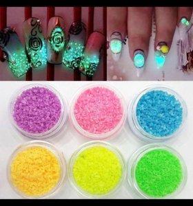 Светящиеся для ногтей камни