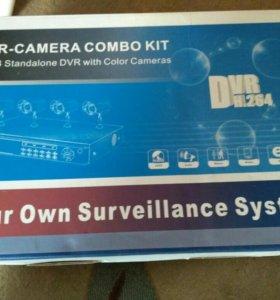 Видеонаблюдение 4 камеры комплект