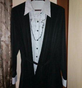 Кардиган с блузкой б/у
