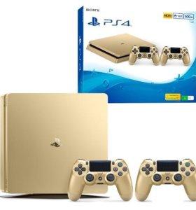 Sony Playstation 4 gold+ 8 игр