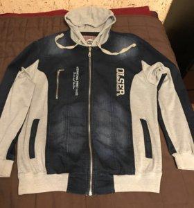 Мужской джинсовый костюм- 56-58 размер