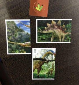 Наклейки смотрите динозавры из дикси