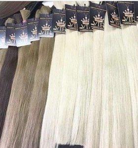 Волосы для наращивания русые и блонды