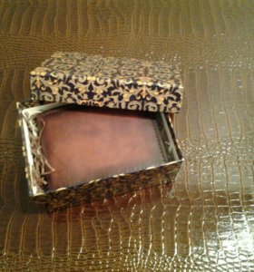 Подарочный Кожаный мужской портмоне ручной работы