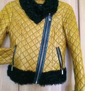 Модная кожаная куртка , 46 размер