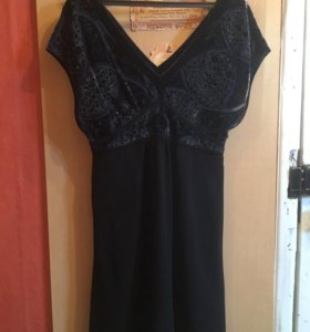 Платье с бархатным верхом