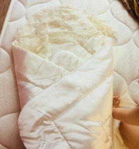 Одеяло - конверт для выписки и прогулок