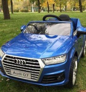 Детский электромобиль Barty AUDI Q7, синий НОВИНКА