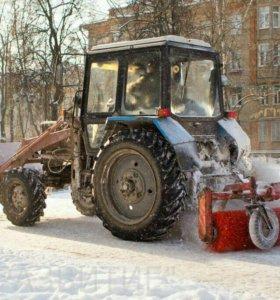 Аренда Трактора мтз 82 отвал/щетка