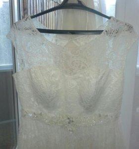 Свадебное платье фата новая 46-50