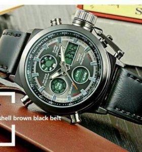 Армейские часы AMST (чёрные)