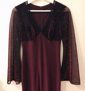 Платье вечернее бардовое