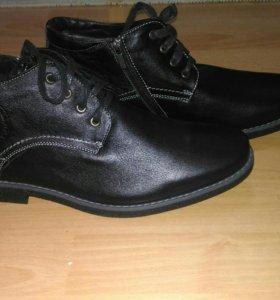 Новые мужские ботинки, натуральная кожа и мех, 44