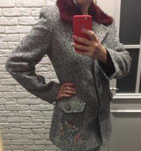 Пальто дизайнерское, шерсть