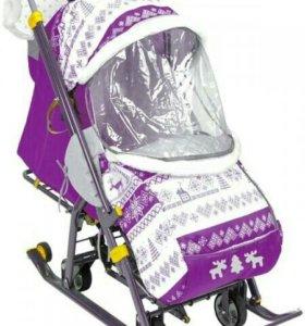 Санки коляска наши детки новые