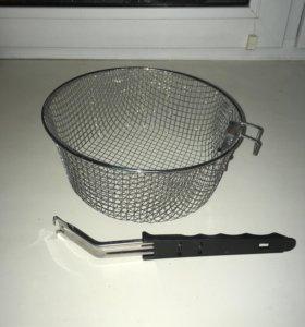 Корзина для фритюра со съемной ручкой