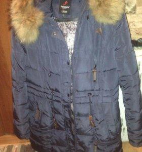 Зимние пальто,очень тёплое ,мех натуральный