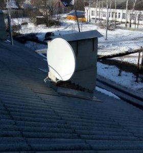 Установка настройка спутниковых и эфирных антенн
