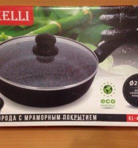 Сковорода с мраморным покрытием, 26 см