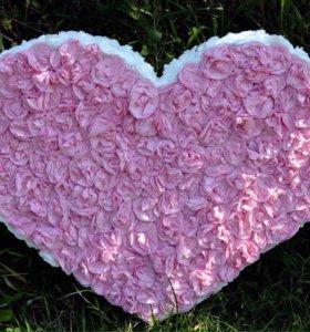 Объёмное сердце ❣-60 см