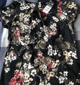 Блузка из Англии новая шелк
