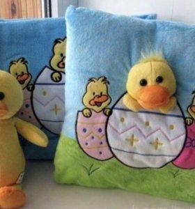 Новый набор (подушка, игрушка, плед)