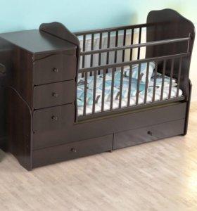 Детские кроватки  фигурные спинки