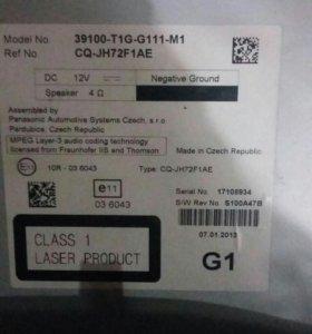 Штатная магнитола Honda CRV 2012