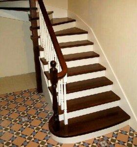 Лестницы, металлокаркас,  балюстрада