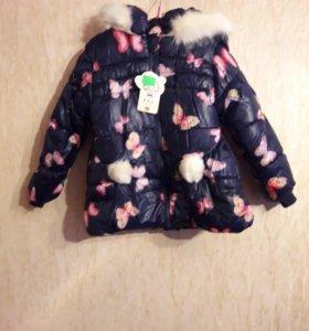 Куртка зимняя, для девочки