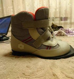 Лыжные ботинки. 36 р-р.