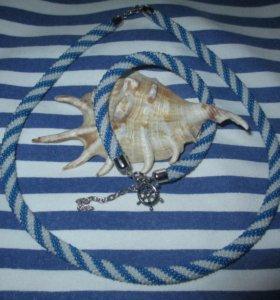 Колье-жгут и браслет