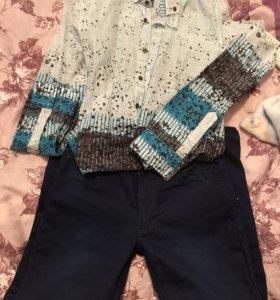 Рубашка+джинсы как новые!!