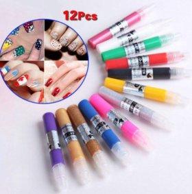 Набор красок для дизайна ногтей 12 шт