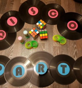 Украшения для вечеринки DISCO PARTY