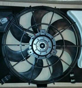 Диффузор радиатора в сборе Hyundai Solaris/Kia Rio