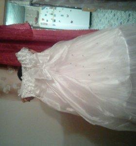 Новогодние платье+накидка