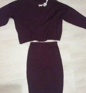 Комплект юбка, кофта