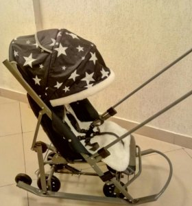санки коляска со звездами