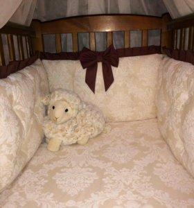 Бортики в кроватку для малыша