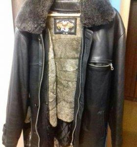 Куртка кожаная мужская 54-56р.